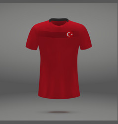 Football kit of turkey vector