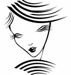 girl with long eyelashes vector image