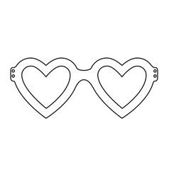 glasses in heart shape icon vector image
