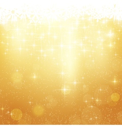 Golden Christmas background vector image