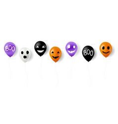 happy halloween balloons with white background vector image