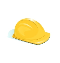 Helmet of worker vector image
