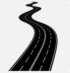 Icon winding curved road vector