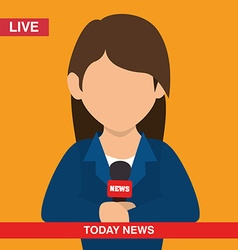 Journalism design vector image