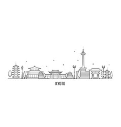 kyoto city skyline tamil nadu japan city vector image