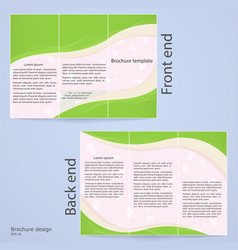 layout tri-fold brochures vector image