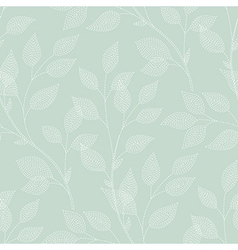 leaves needlework green vector image