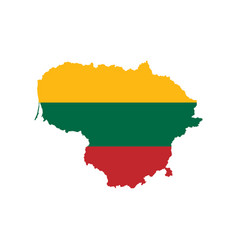 Lithuania flag and map vector