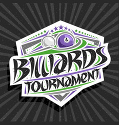 Logo for billiards tournament vector