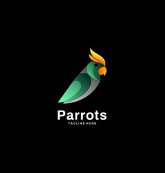 logo parrot gradient colorful style vector image
