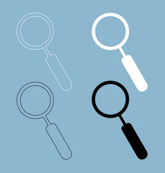 loupe the black and white color icon vector image