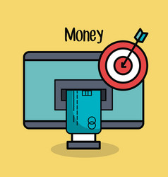 Money related objects design vector