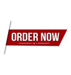 Order now banner design vector