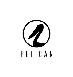 pelican design template vector image