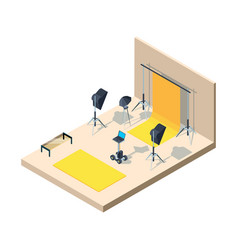 photo studio interior photographing professional vector image