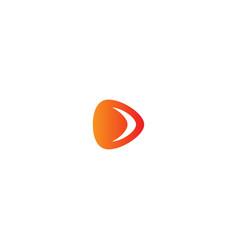 play button media logo vector image