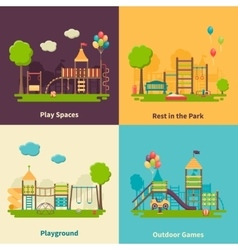 Playground Concept Flat vector image