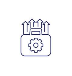 Portfolio optimization and growth line icon vector