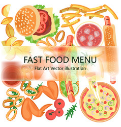 restaurant fast food menu vector image