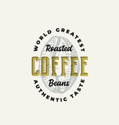 roasted coffee abstract sign symbol or vector image