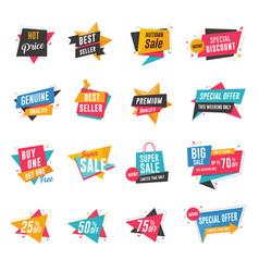 sale discount banner set vector image