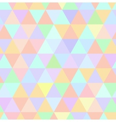 Seamless retro pattern of geometric shapes Pastel vector