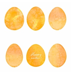 Set of watercolor eggs Easter design elements vector image