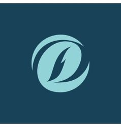 Sign the letter D vector image