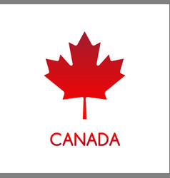Simple of canadian maple leaf vector