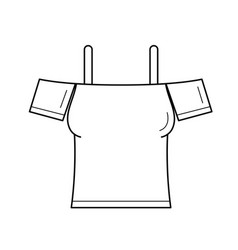 sleeveless blouse line icon vector image
