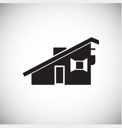 Small city house on white background vector