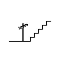 stair success target direction icon can be used vector image