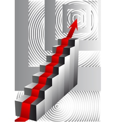 stairs with an arrow vector image