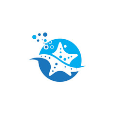 star sea icon design vector image