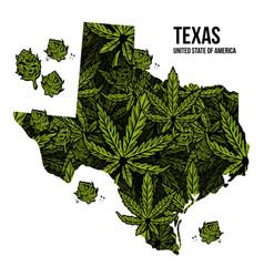 Texas usa cannabis print design vector