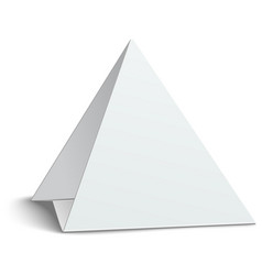 three-cornered triangular blank paper table card vector image