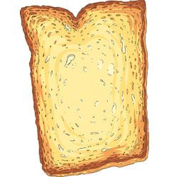 toast toasted sliced bread vector image