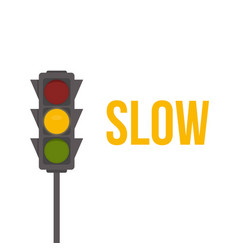 traffic light isolated icon yellow lights vector image