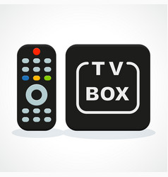 tv box vector image