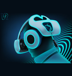 virtual reality background vector image