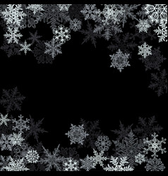 winter background snowflakes black and white vector image