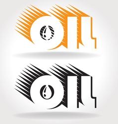 Oil logo template vector
