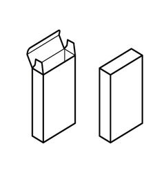 Rectangle Box vector image