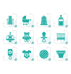 stylized child baby and baby online shop icons vector image vector image