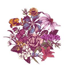 summer vintage floral background vector image