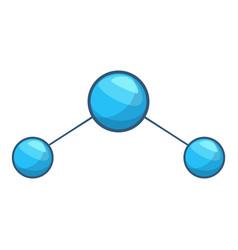 water molecule icon cartoon style vector image