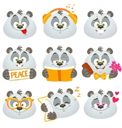 emotions panda vector image