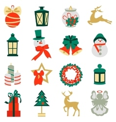 Collection of colorful christmas elements and vector image