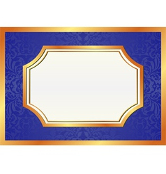 golden and blue background vector image vector image