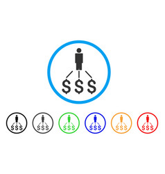 person expenses rounded icon vector image vector image